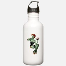zombie pin-up girl Sports Water Bottle
