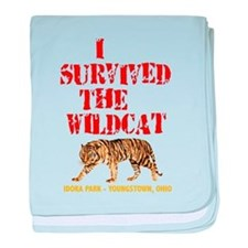 I Survived the Wildcat baby blanket