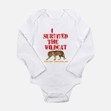 I Survived the Wildcat Long Sleeve Infant Bodysuit