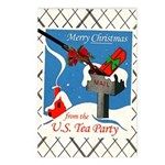 Tea Party Christmas Postcards (Package of 8)