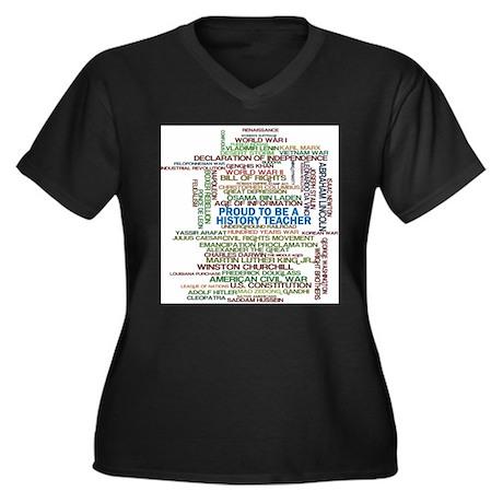 Proud History Teacher Plus Size T-Shirt