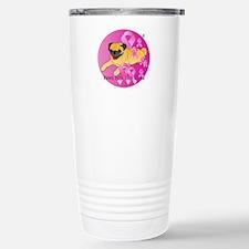Fawn Pug Stainless Steel Travel Mug