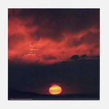 Burning at Dawn- Tile Coaster
