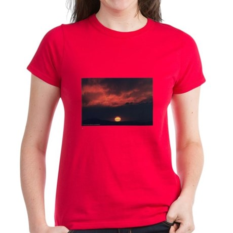 Burning at Dawn- Women's Dark T-Shirt