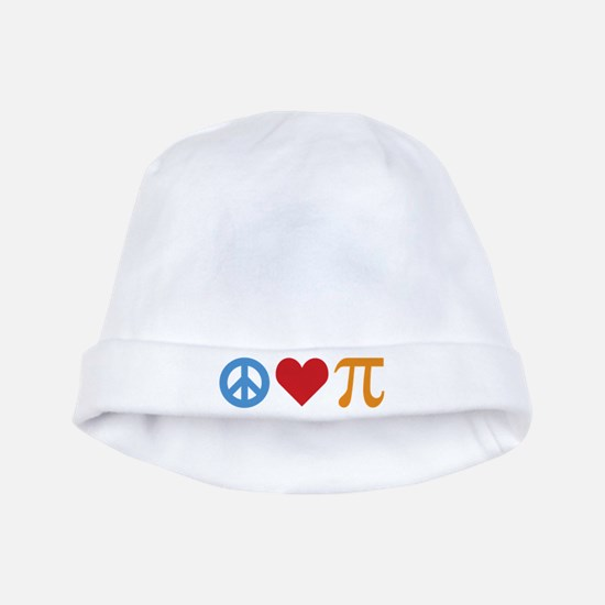 Peace Love Pi baby hat