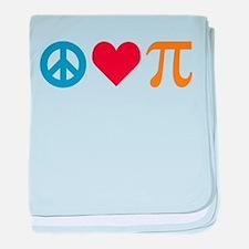 Peace Love Pi baby blanket
