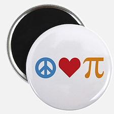 "Peace Love Pi 2.25"" Magnet (100 pack)"