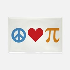 Peace Love Pi Rectangle Magnet