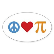 Peace Love Pi Decal