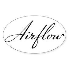Chrysler Airflow black script Decal