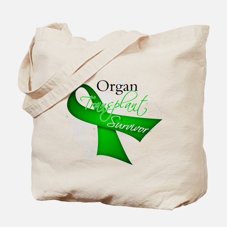 Organ Transplant Survivor Tote Bag