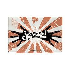 Jazz Hands Rectangle Magnet