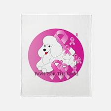 White Poodle Throw Blanket