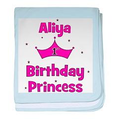 1st Birthday Princess Aliya! baby blanket