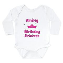 1st Birthday Princess Ainsley Long Sleeve Infant B