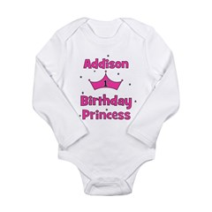 1st Birthday Princess Addison Long Sleeve Infant B