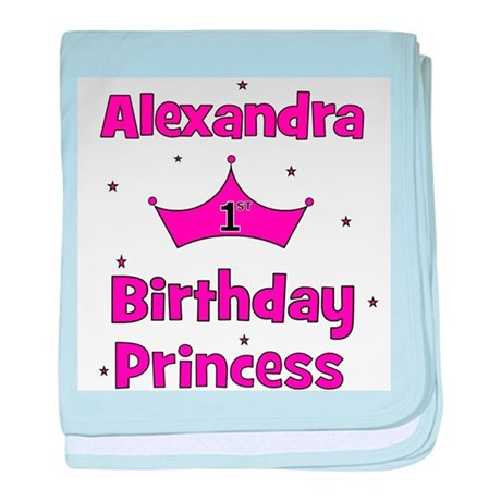 1st Birthday Princess Alexand baby blanket