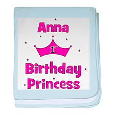 1st Birthday Princess Anna! baby blanket