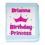 1st Birthday Princess Brianna baby blanket