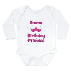 1st Birthday Princess Emma! Long Sleeve Infant Bod