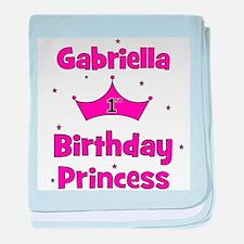 1st Birthday Princess Gabriel baby blanket