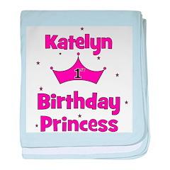 1st Birthday Princess Katelyn baby blanket
