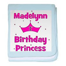 1st Birthday Princess Madelyn baby blanket