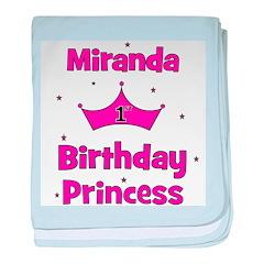 1st Birthday Princess Miranda baby blanket