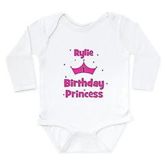 1st Birthday Princess Rylie! Long Sleeve Infant Bo