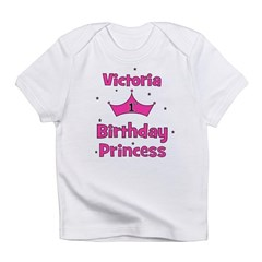1st Birthday Princess Victori Infant T-Shirt