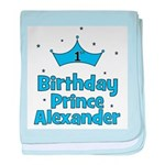 1st Birthday Prince ALEXANDER baby blanket