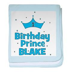 CUSTOM - 1st Birthday Prince! baby blanket