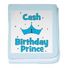 1st Birthday Prince Cash! baby blanket