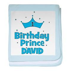 1st Birthday Prince David! baby blanket