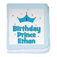 1st Birthday Prince ETHAN! baby blanket