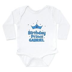 1st Birthday Prince Gabriel! Long Sleeve Infant Bo