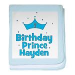 1st Birthday Prince Hayden! baby blanket