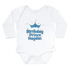 1st Birthday Prince Hayden! Long Sleeve Infant Bod