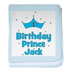 1st Birthday Prince Jack baby blanket