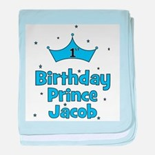 1st Birthday Prince Jacob! baby blanket