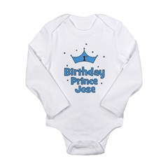1st Birthday Prince JOSE! Long Sleeve Infant Bodys