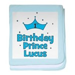 1st Birthday Prince Lucus! baby blanket