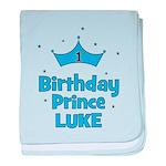 1st Birthday Prince LUKE! baby blanket