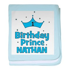 1st Birthday Prince Nathan! baby blanket