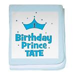 1st Birthday Prince Tate! baby blanket