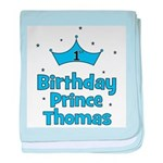 1st Birthday Prince THOMAS! baby blanket