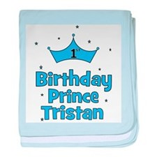 1st Birthday Prince Tristan baby blanket