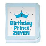 1st Birthday Prince Zhyen! baby blanket