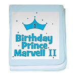 CUSTOM - 1st Birthday Prince baby blanket
