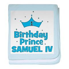1st Birthday Prince Samuel IV baby blanket